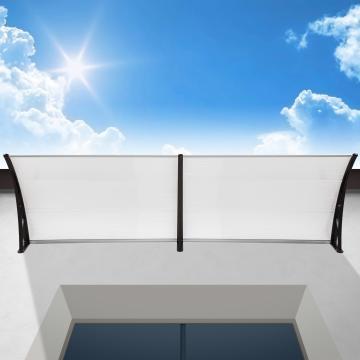 Auvent de porte banne entrée - 200cm -  marquise solaire abri ombre