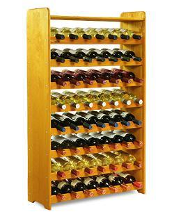 Cave étagère armoire à vin murale 56 bouteilles Cherry