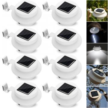 Lampe solaire LED pour clôture/gouttière/jardin Blanc