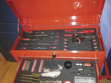 Servante atelier complete - servante d atelier complete  - malette rangement outils vide
