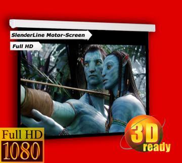 Ecran de projection 300 x 169 cm MOTORISE  (2 Télécommandes)