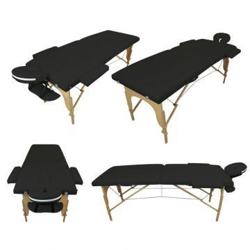 Table de massage BOIS 2 zones pliante - Différents coloris