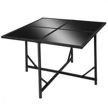 Meubles en rotin noir 4 chaises + 4 tabourets + 1 Table