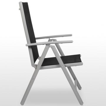 4 chaises jardin terrasse balcon camping aluminium pliante