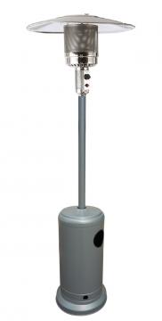 Parasol chauffant - chauffage d'extérieur gaz - acier gris clair