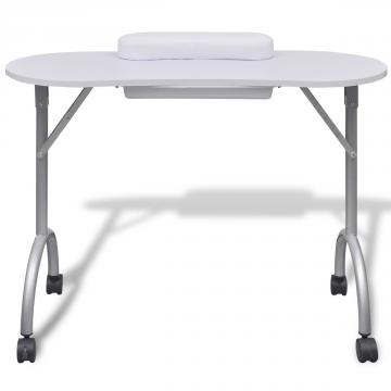 Table manucure pliante roulettes