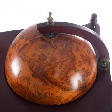 Bar globe - bar globe terrestre - bar mappemonde ancien