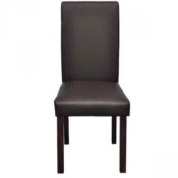 chaise coloniale - chaise salon - chaise cuir-1