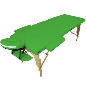 Table de massage BOIS 2 zones pliante