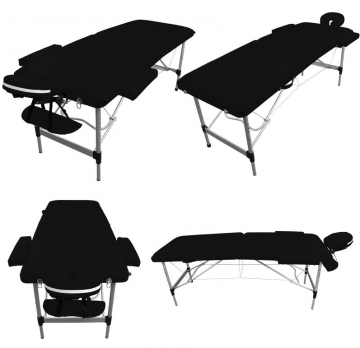 Table de massage Alu - 2 zones pliante - Différents coloris