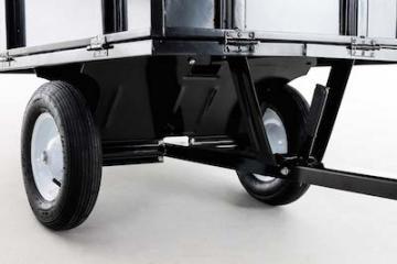 Remorque tracteur tondeuse - remorque de jardin - chariot de jardin