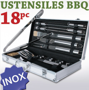 Coffret kit 18 ustensiles barbecue - BBQ - InoxVue 1