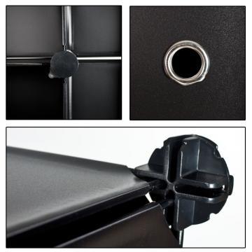 Etagères armoire penderie rangement plastique 8 casiers 1 tringle syst