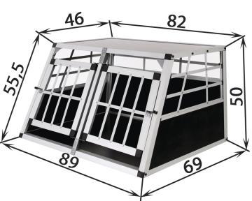 Cage transport chien - Cage chien voiture - Caisse de transport