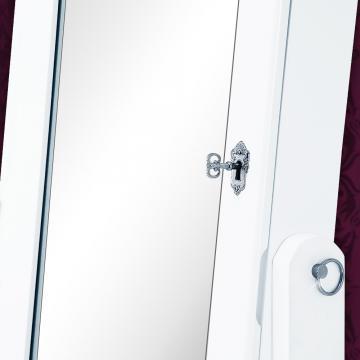 Armoire à glace moderne blanche - Pivotable - Rangement bijoux
