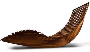 Transat bois - chaise longue bois - transat en bois