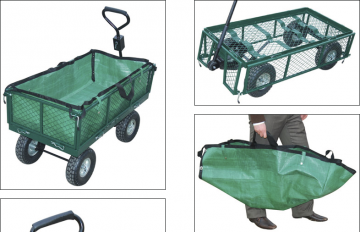 Chariot de jardin - chariot de jardin 4 roues - remorque de jardin