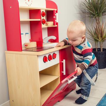 Cuisine en bois pour des enfants - www.abc-prix.com