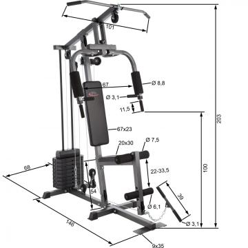 Banc de musculation - banc de musculation pliable-6