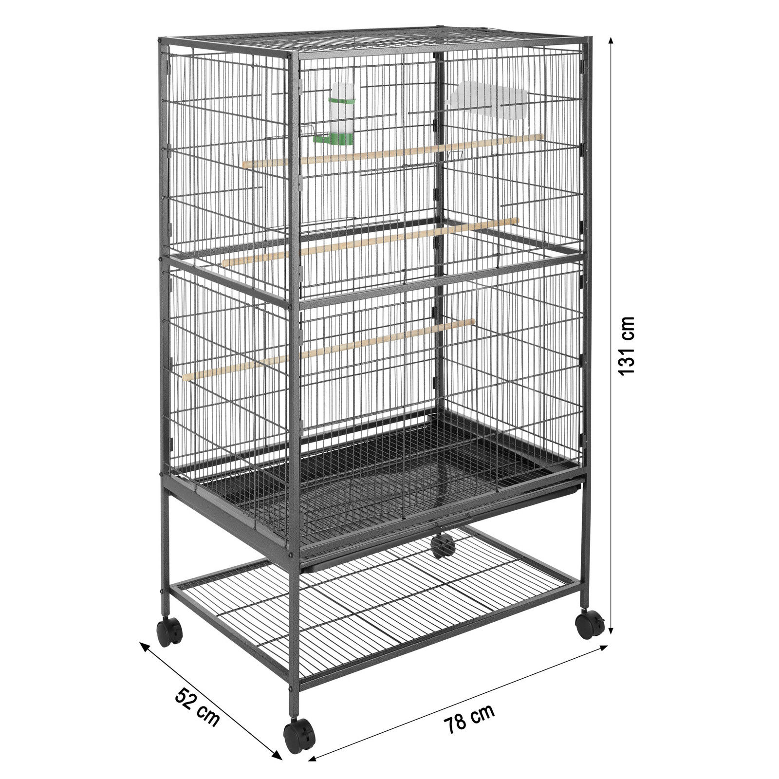 discount sale purchase cheap large discount Cage perruche 131x78x52cm