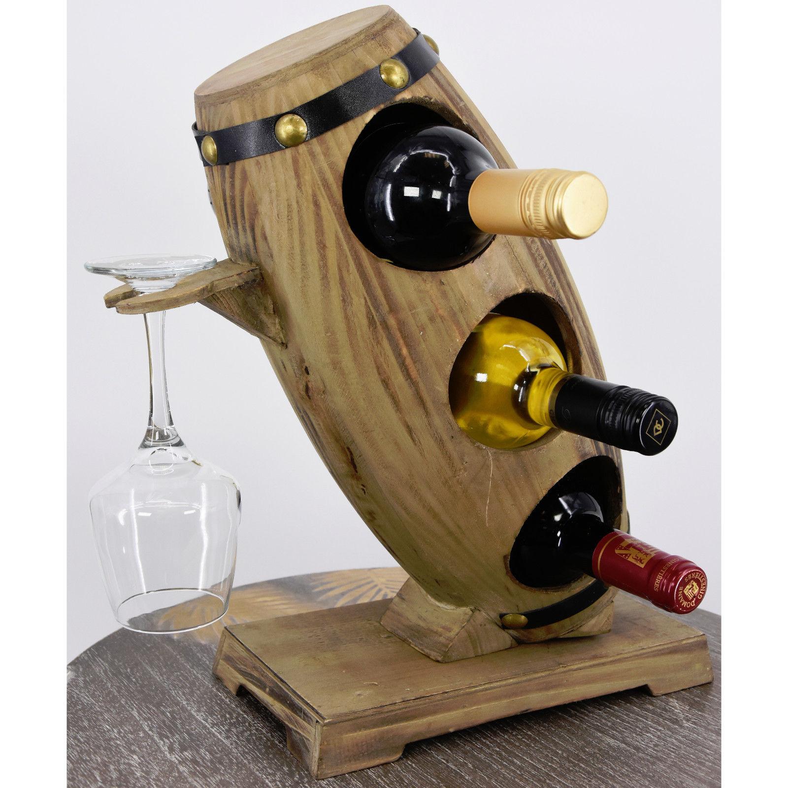 5 bouteilles Violon en bois casier à vin Porte-bouteille Support Élégant affichage support de stockage