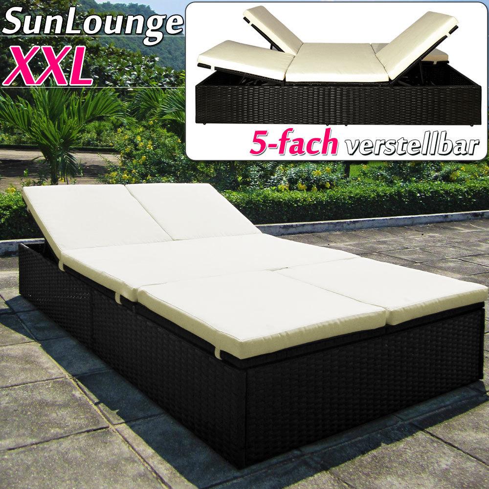 lit double de jardin r sine tress e. Black Bedroom Furniture Sets. Home Design Ideas